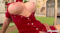 Latex clinic pussy eating & anal with Latex Lucy & Eva Parcker صورة
