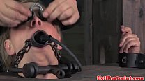 Stocked skank being mouth gagged by maledom video