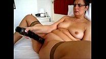 Chubby Mature masturbates with a vibrator
