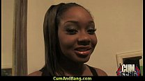 Sexy ebony snatched and group fucked by white dudes 20 preview image