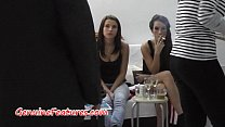 Sexy TEEN vs. blonde MILF in backstage Thumbnail