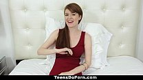 TeensDoPorn - Busty Red Head Abbey Rain's Porn Casting pornhub video