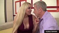 Mature Blonde Cala Craves Sucks a Thick Cock and Takes It in Her Pussy - 9Club.Top