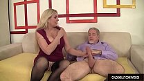 Mature Blonde Cala Craves Sucks a Thick Cock an...