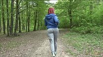 Public nudity Alexsis Faye gets naked in the woods while she is jogging - 9Club.Top