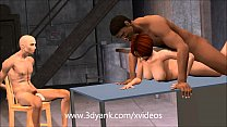 Animated Wife has to pay the mechanics with pussy! 3d