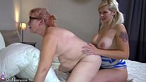OldNanny Two horny lesbian woman is enjoying wi...