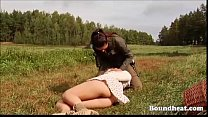 Hunting and whipping lesbian slaves preview image