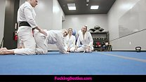 Self Defense Class Turns Into A Foursome Fuck Fest With A Big Cock