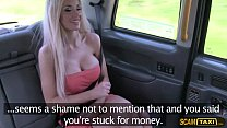 Cute blonde lady bangs new cabbie in the backse...