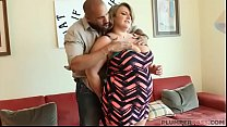 Big Tit BBW MILF Veronica Gags on Huge Latino Cock Thumbnail