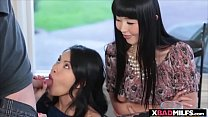 Asian stepmom and her exotic stepdaughter gets ...