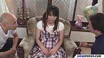 a japanese schoolgirl for two cocks