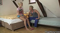 Teen blonde takes it deep and rough