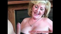 Cute blonde horny granny