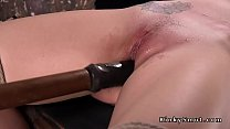 Back arched slave pussy fucked with toy Preview