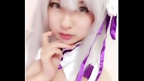 Xidaidai cosplay Emilia from Re : zero anime  - https://asiansister.com/ video