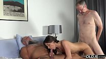 16899 Old Young Porn Group fucked Teen Takes 2 grandpa cocks and cums hardcore preview