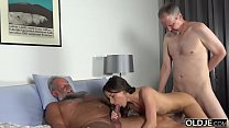15930 Old Young Porn Group fucked Teen Takes 2 grandpa cocks and cums hardcore preview
