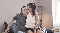 OLD4K. Old music teacher and his lessons for girls video