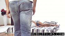 Nubilefilms - Trembeling Orgasm On Her Step Brothers Cock