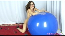 Kymberly Jane in Balloon Popping Secretary