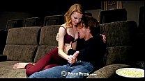 PORNPROS Skinny russian Catarina Petrov fucked in home movie theatre preview image