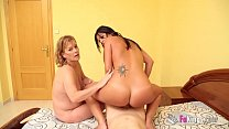 Mom and daughter lick your cock clean in one of the best POV videos ever Vorschaubild
