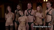 Image: Tied up babe and others fuck on party