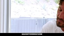 DaughterSwap - Sexy Teens Fuck Their Dads While On Vacation - 9Club.Top