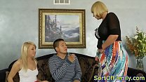 Curvy mature joins stepteen and boyfriend