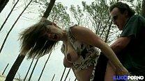 14182 Stephanie se fait prendre dans les bois, enceinte et entourée de voyeurs [Full Video] preview