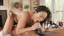 BBC pleased by oily Asian masseuses tight pussy