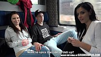Foursome Sex in Public TRAIN thumbnail