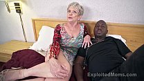 Mature Grandma with Big Tits lets a Black Cock cum Inside her Creampie Video - download porn videos