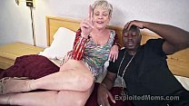 Mature Grandma with Big Tits lets a Black Cock cum Inside her Creampie Video thumbnail