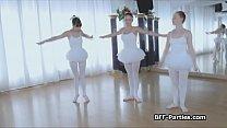 3 teen ballerinas on 1 big cock thumbnail