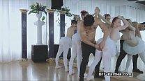 3 teen ballerinas on 1 big cock Vorschaubild