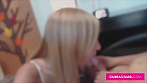 Hot blondie rides and fucks her boyfriend in live camshow preview image