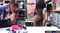 11373 Ebony teen tried to save her young sis and both got banged preview