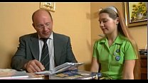 young teen cute russian girl and old man teacher. sweet fist time porn. thumbnail