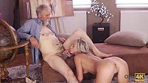 OLD4K. Old dad spends wonderful time with adorable blonde girl Shanie Ryan