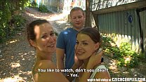 CZECH COUPLES Young Couple Takes Money for Public Foursome thumbnail