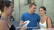CZECH COUPLES Young Couple Takes Money for Public Foursome preview image