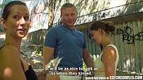 12313 CZECH COUPLES Young Couple Takes Money for Public Foursome preview