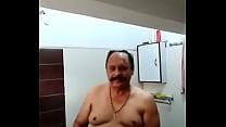 INDIAN OLD MAN TAKE BATH