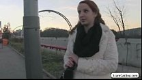 Pretty redhead Zuzana gets tricked by the drive... Thumbnail