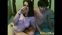 fantastic brunette leatha in live sex tv channa... thumb