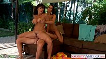 Busty Rachel Starr and Lisa Ann fuck in threesome Preview