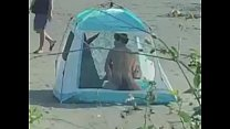 The couple make love in the tent